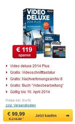 MAGIX Video deluxe 2014 Plus +Schnitttastatur +Nachvertonungsarchiv +Lernbuch für 93,98€
