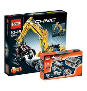 Lego Technic Raupenbagger 42006 + Power Functions 8293 für 56,69 €