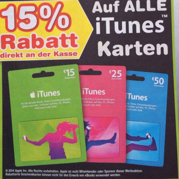 iTunes 15% Rabatt bei Netto