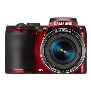 "Samsung WB 110 Ultra Zoom Kamera 20,2 MP,26fach opt. Zoom,7,6cm (3"") TFT Rot"