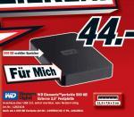 """Western Digtal Elements Portable 2,5"""" 1000GB für 79€ @MediaMarkt"""