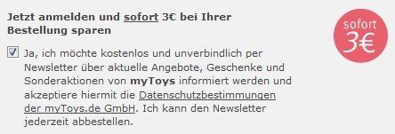 [MyToys] Bis zu 13€ sparen + VSK frei - ab 30€ MBW