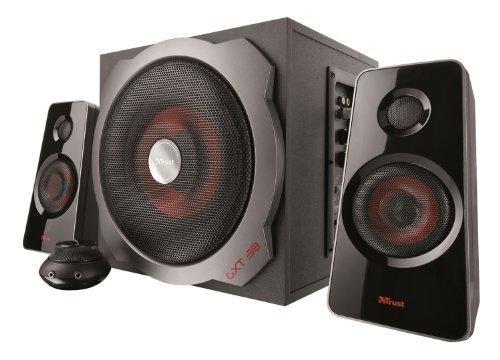 Trust Tytan (GXT 38) 2.1 Lautsprechersystem mit Subwoofer schwarz/rot für 51,00 € @Amazon