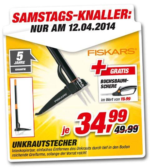 [LOKAL?] Toom-Baumarkt! Fiskars Unkrautstecher + Buchsbaumschere 34,99€