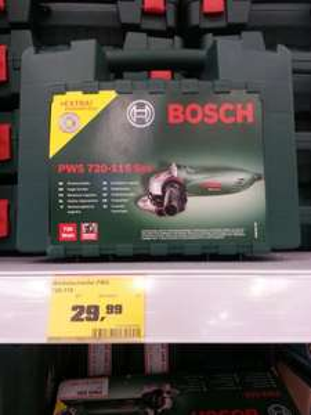 Bosch PWS 720-115 Winkelschleifer + Koffer + Diamanttrennscheibe. OBI (lokal München-Neuaubing)