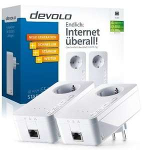 Devolo dLAN Powerline 650+ Starter Kit (600 Mbit/s, Steckdose, Datenfilter, 1 LAN Port @Amazon Blitzangebot 94,99 €