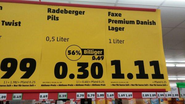 Die Festivalsaison kommt... Teil 2! Radeberger Pils 0,5 l Dose 0,30 € [Penny lokal Halle] +1€ Cashback pro Sixpack