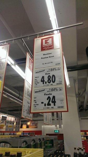 Warsteiner Kasten für 4,80€ zzgl. Pfand (Kaufland Hagen)