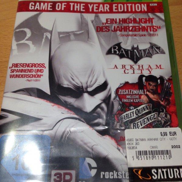 [Lokal Koblenz Saturn] Batman Arkham City GOTY Xbox 360