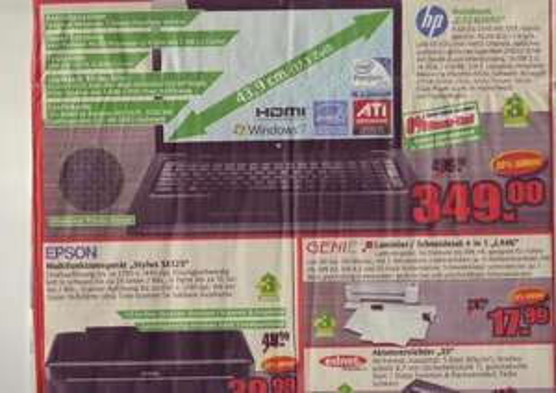 """[Lokal? + Offline] Marktkauf Stuhr-Brinkum HP G72-b20sg 17,3"""" Notebook 349,-"""