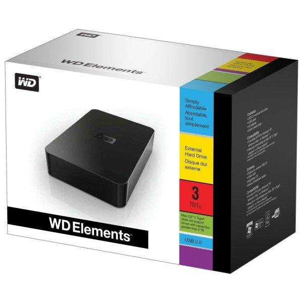 [Blitzdeal] WD Elements Desktop externe Festplatte 3TB (8,9 cm (3,5 Zoll), USB 2.0) für aktuell den Tiefpreis von 79,00 € (gegenüber 90,90 €)