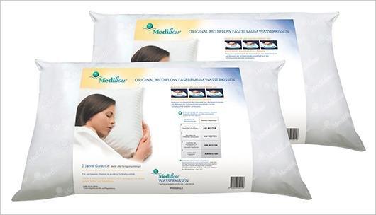 Plus.de : Mediflow 5001 original Wasserkissen 40 x 80 cm, weiß - 2er-SET , - 5€ Newsletter , versandkostenfrei