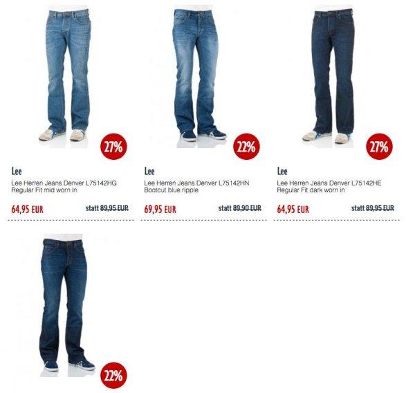 LEE DENVER Jeans vier verschiedene Waschungen ab 39,95 € plus 3,90€ Versand