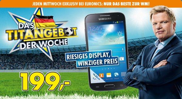 Galaxy S4 mini schwarz am 09.04. bei EURONICS