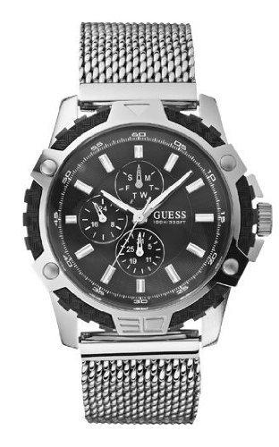 Guess Herren-Armbanduhr XL FIBER Analog Quarz Edelstahl W19530G1 @Amazon