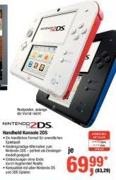 Nintendo 2DS in weiß und schwarz für 83,29 € @Metro