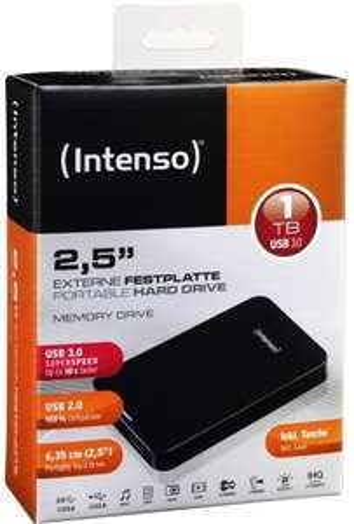 Intenso externe Festplatte Memory Drive 1TB USB 3.0  2,5 Zoll