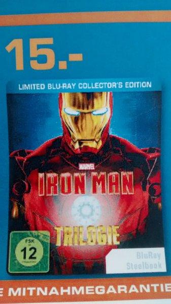Iron Man Trilogie Blu Ray - Steelbook inkl. Iron Man Comic (Limited Blu Ray Collectors Edition)  Saturn Dortmund - 15 €