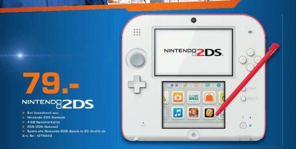(Lokal Saturn Chemnitz)  Nintendo 2DS weiss-rot 79€