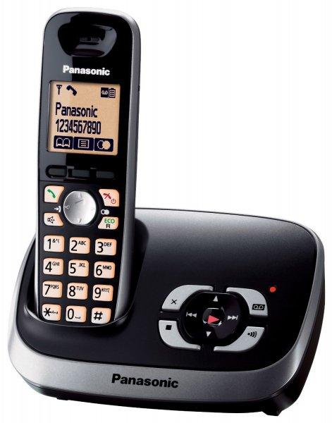 Panasonic KX-TG6521GB Schnurlostelefon mit Anrufbeantworter schwarz (Preisfehler)