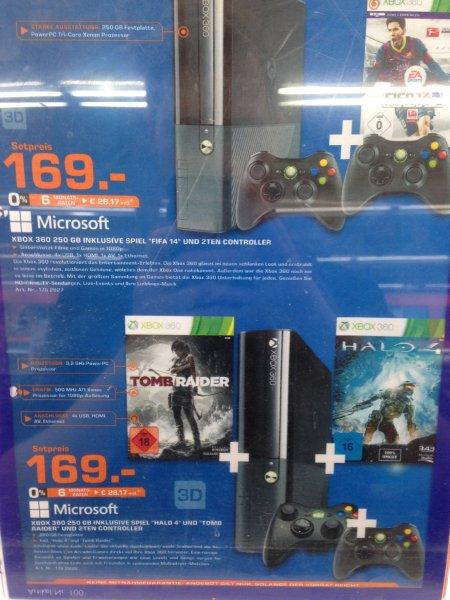 [Lokal Darmstadt] Xbox 360 mit 250GB + Halo 4 + Tomb Raider + 2. Controller für 169€