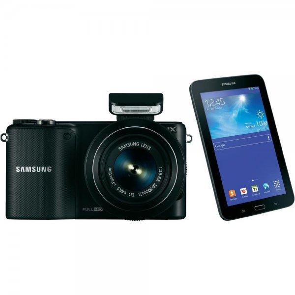 Samsung NX2000 + 20-50 mm Objektiv + Samsung Galaxy Tab 3 (7.0) 8GB WiFi für 293,45€@ Conrad