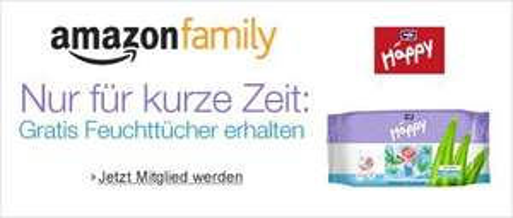Amazon Family 6 Packungen Feuchttücher gratis bei Anmeldung