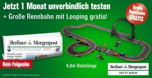 4 Wochen Berliner Morgenpost inkl. 6,9m Autorennbahn- selbstkündigend