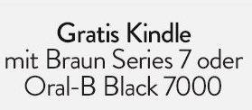 Gratis Kindle mit Braun Series 7 oder Oral-B Black 7000