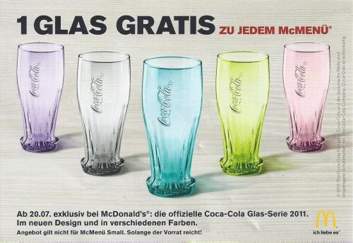 Gratis Coca-Cola Glas zu jeden McMenü dazu - ab 20.07.11