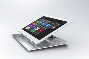"Sony Vaio Duo 13 SVD1321X9EW Slider-Hybrid-PC weiss / 13.3"" WUXGA Multi-Touch / Core i7 / Win8 Pro / für 1199 EUR #hoh.de"