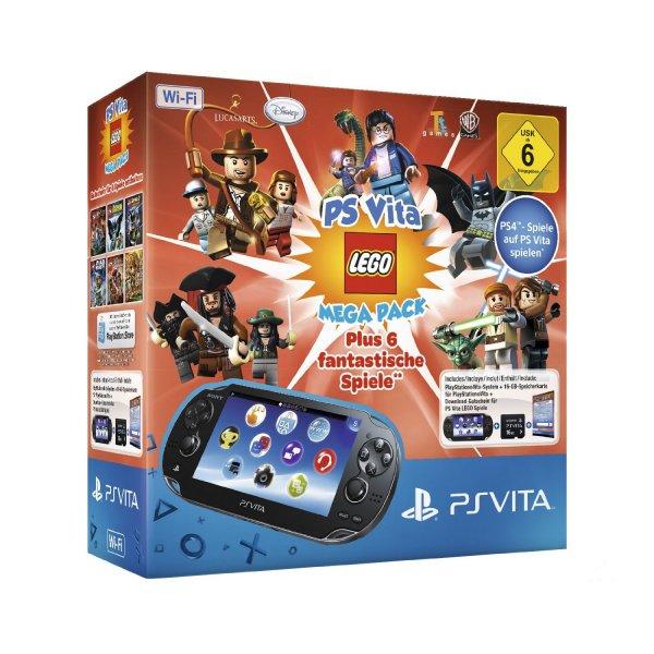 PS Vita WiFi LEGO Mega Pack Bundle (inkl. 16GB Speicherkarte) für 149 EUR bei Amazon.de