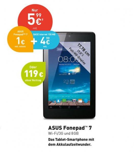 Asus Fonepad 7 3G/Wifi 8GB 119€ @ Base