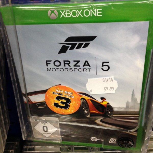 Xbox One Forza 5 Saturn Hannover nur 18,33 Euro!