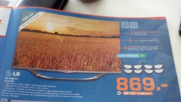 LG 55LA6928 3D offline Saturn 869€  (evtl.lokal?) Berlin Brandenburg