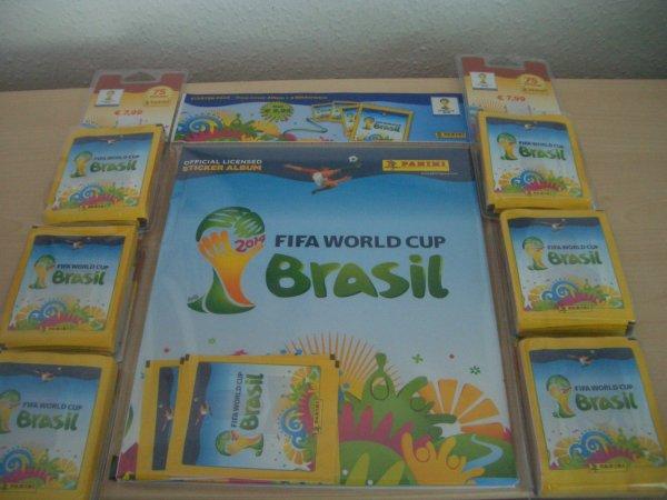 Panini WM 2014 Hardcover Album +6 Blister(je 75 Tüten), 470 Bilder