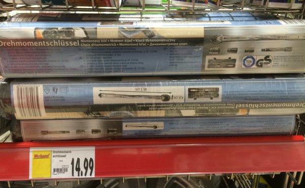 Kaufland Bochum Drehmomentschlüsselsatz in Box für 14,99 €    28-210 Nm