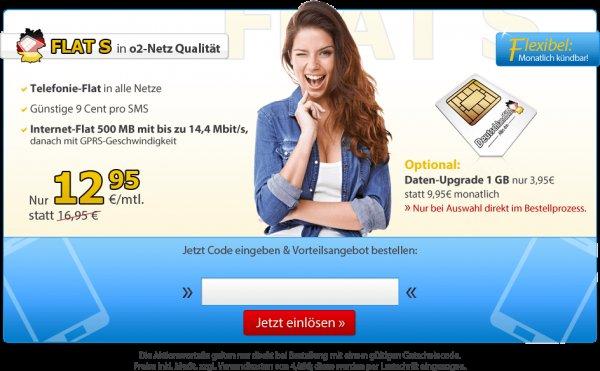 nur noch bis 19.4 Computerbild+DeutschlandSIM=Allnet-Flat + 500MB Interneflat für 12,95€ (Monatlich Kündbar)