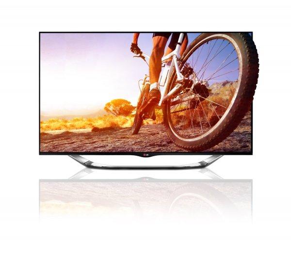 LG 42LA8609 106,7 cm (42 Zoll) Cinema 3D LED-Backlight-Fernseher, EEK A+ (Full HD, 800Hz MCI, DVB-T/C/S, Smart TV, HbbTV, Pop-Up Kamera, Miracast) schwarz
