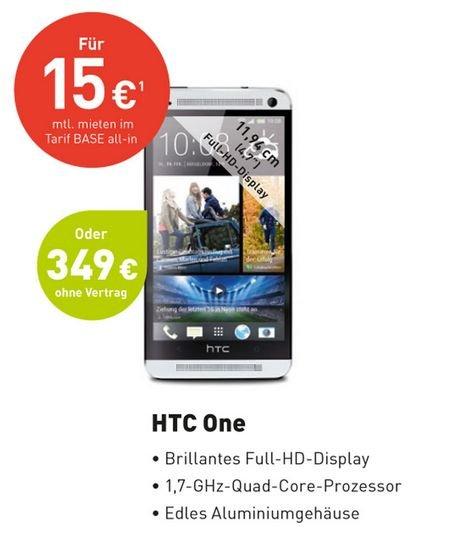 HTC one (M7) bei Base für € 349,-