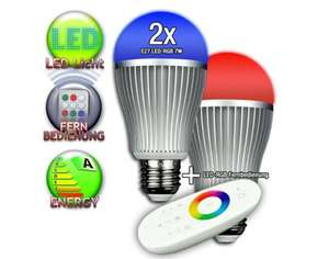 Ebay WOW 2x s`luce iLight dimmbare LED RGB Lampen + 1x Touch-Fernbedienung