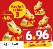[Penny] Lindt Goldhase 4x100g für 6,96 Euro