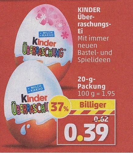 Ü-Ei / Kinder-Überraschungsei für nur 0,39 Euro bei Penny ab Montag 14 April