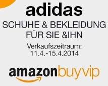 amazon BuyVIP: Adidas Schuhe & Bekleidung für Damen, Herren und Kinder bis zu 55% günstiger (11.04.2014 bis 15.04.2014)