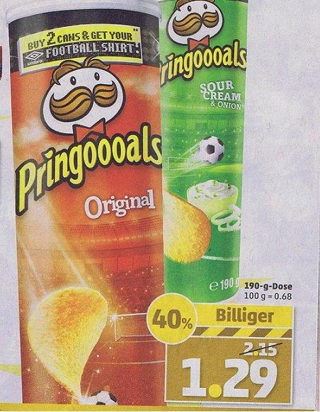 Pringles 1,29 € @ PENNY ab Montag + evtl Fußballshirt für 3€