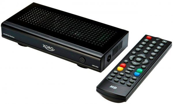 Xoro HRS 8540 digitaler Satelliten-Receiver (HDTV, DVB-S2, HDMI, SCART, PVR-Ready, USB 2.0, 1080p, Media Player)  für 27,95€ @ Conrad