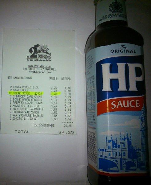 HP Sauce The Original 255gr für 0,25€ in Die 2 Brüder von Venlo(lokal) statt 2,25€