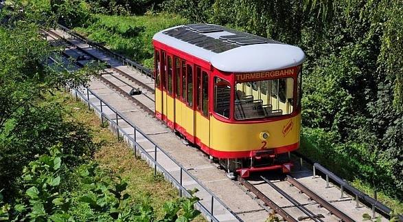 (Lokal: Karlsruhe-Durlach) Samstag 12. April ganztags kostenlos mit der Turmbergbahn fahren: Deutschlands älteste Standseilbahn (seit 1888)