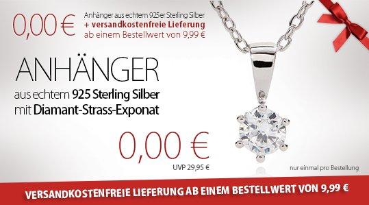 Silvity: Für 20,- Schmuck kaufen - nur 10,- bezahlen + gratis Anhänger 925er Sterling Silber + 10% qipu