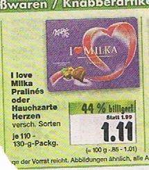 [Kaufland Lüneburg lokal?] I love Milka oder Hauchzarte Herzen ab Mo 14.04.